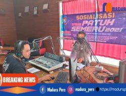 Sosialisasi Operasi Patuh Semeru 2021, Polres Pamekasan Siarkan Melalui Radio