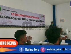 Diskominfo Sampang Gelar Sosialisasi DBHCHT Kepada Kelompom Media